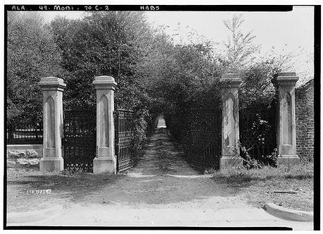 Entrance to Visitation, Mobile LOC, HABS