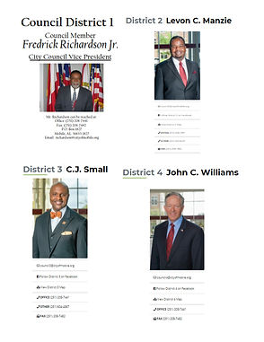 City Council Contact Information page 1.