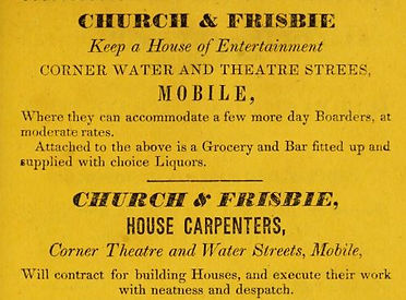 1837 Directory house of entertainment on