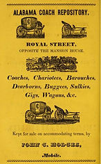 1837 ad for coach repository opposite th