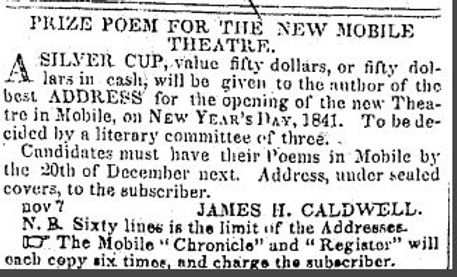 poem contest to open caldwell's new thea