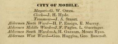 1837 Aldermen from City Directory ... mo