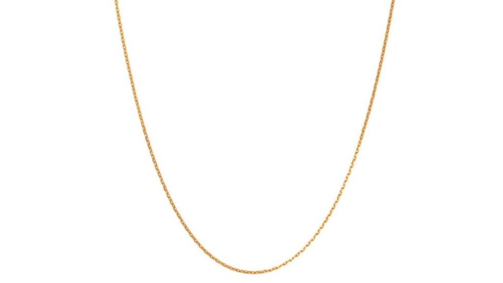 1.6m 18k Gold Cable Chain Necklaces