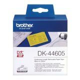 Brother DK-44605 Continuous-Length Removable Adhesive Paper Tape - Yellow