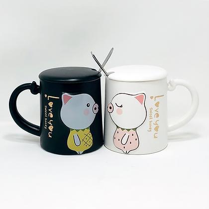 kids piggy tea mug duo