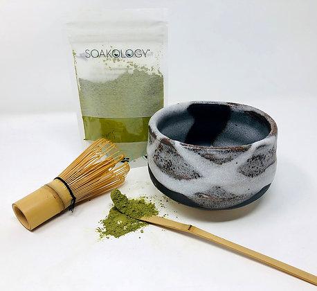 matcha brew kit (bowl, whisk, and tea)