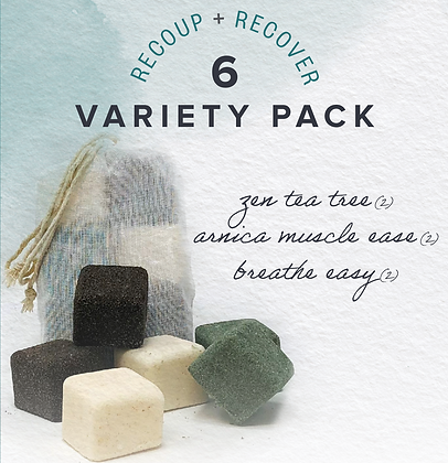 variety pack (6) TheraCubes: Recoup + Recover