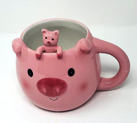 piggy mug with spoon