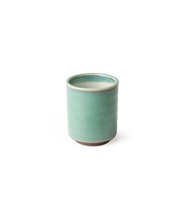 Hand Glazed Celadon Ceramic Teacups (8 ounces)