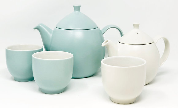 dew teapot sets with choice of tea