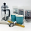 Thumbnail: French tea press set with colorful teacups