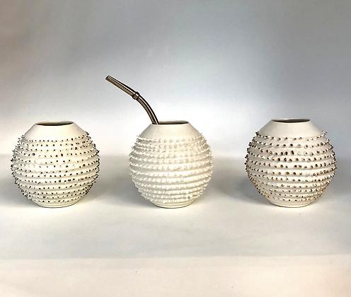 spiky handmade mate cup