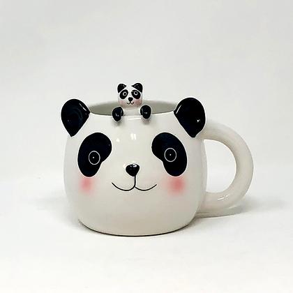 panda mug with spoon