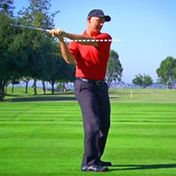 swing fault - flat shoulder plane at lee chiropractic clinic
