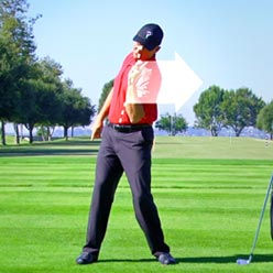 swing fault - reverse spine angle at lee chiropractic clinic