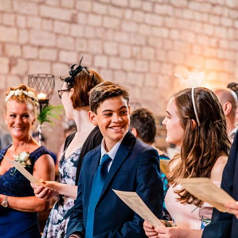 Lanercost Priory wedding ceremony