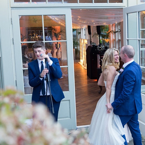 First Dance at Mitton Hall. Outdoor dancing on the terrace