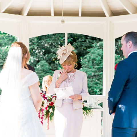Outdoor wedding ceremony - tearful readings