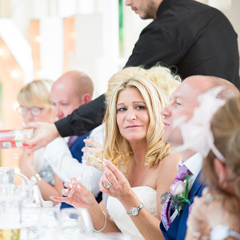 Mitton Hall wedding reception