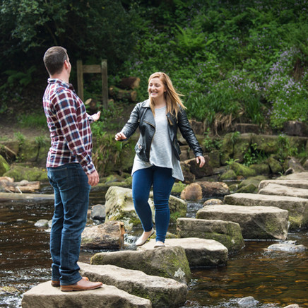 Heidi and Mark's adventure of an engagement shoot at Hardcastle Crags