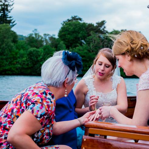 Wedding Day Lake Cruise. Beech Hill Windermere