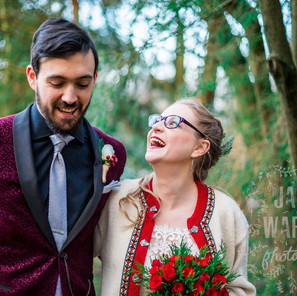 Sipping Mulled Wine and Sharing Mince Pies - Becca and Simon Have Their Dream Cosy Christmas Wedding