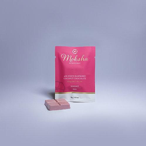 Moksha Vegan White Raspberry Chocolate CBD Isolate Square
