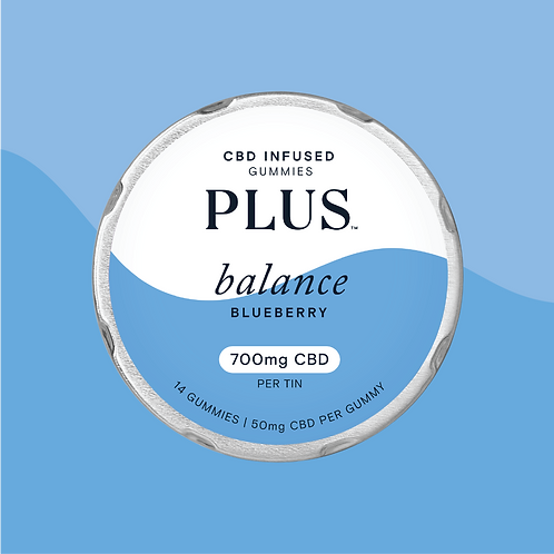 PLUS CBD 'Balance' Blueberry Gummies
