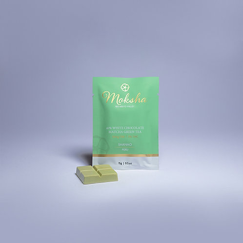 Moksha 40% White Chocolate Matcha Green Tea CBD Isolate Square
