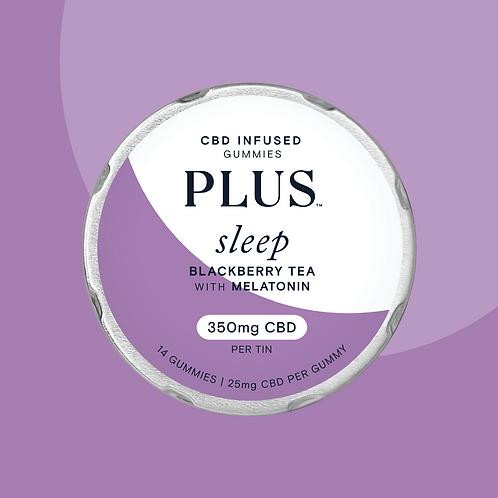 PLUS CBD 'Sleep' Blackberry Tea Gummies with Melatonin