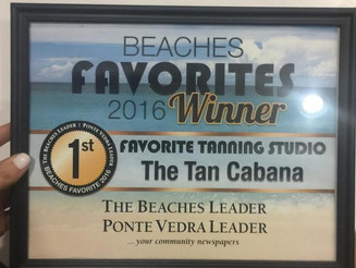 The Tan Cabana's Most Recent Award