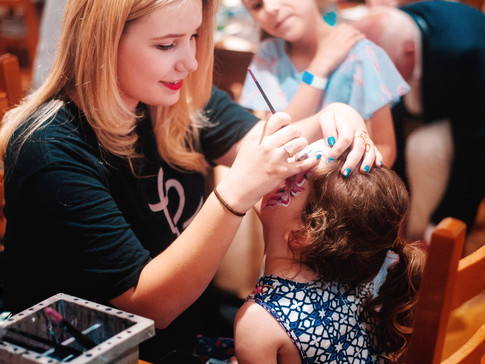 Face painting at Emily's Entertainment