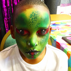 Scary Snake face paint design.