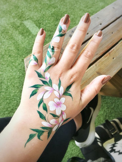 Flower hand painting