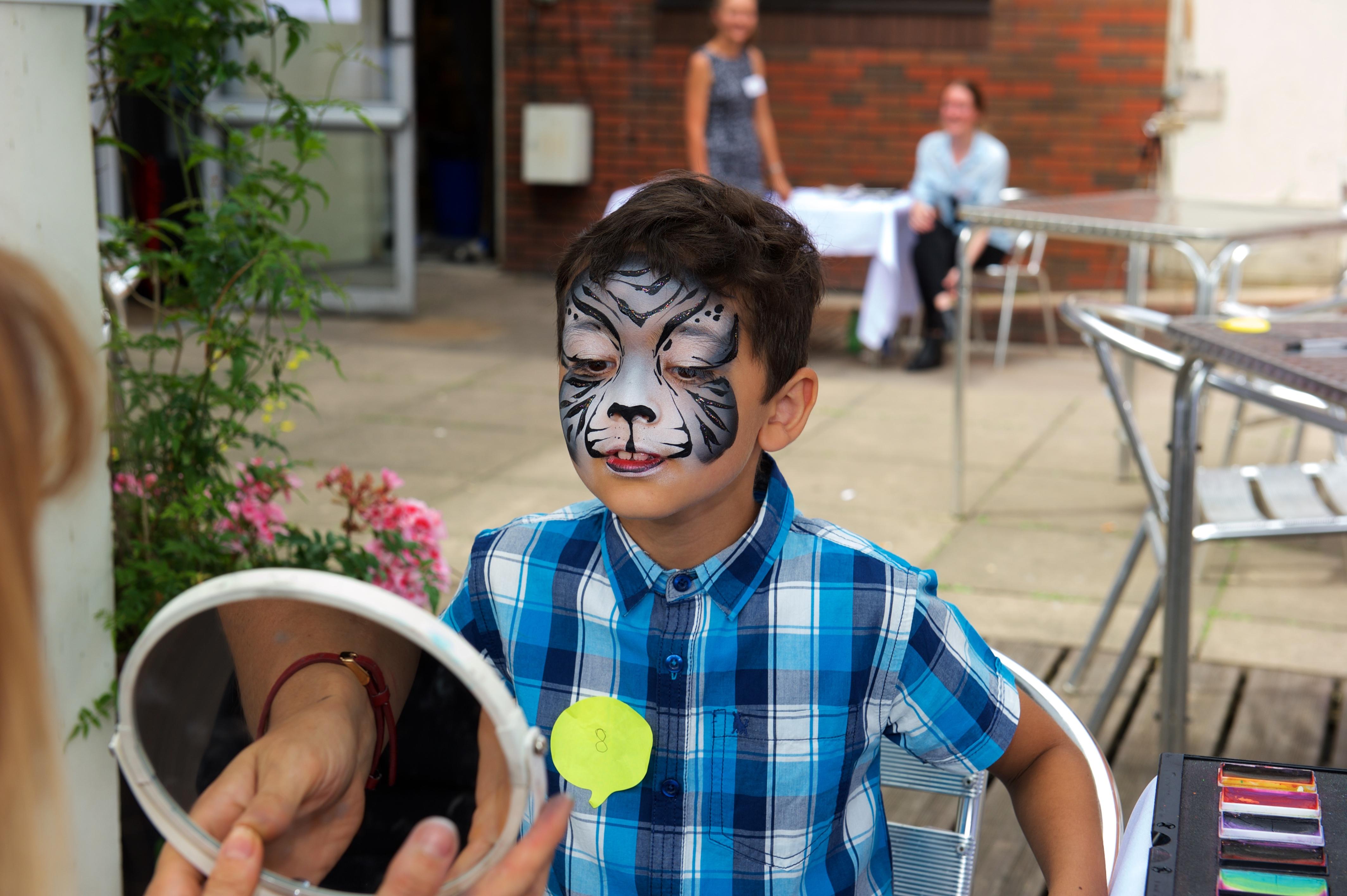 Snow tiger face paint