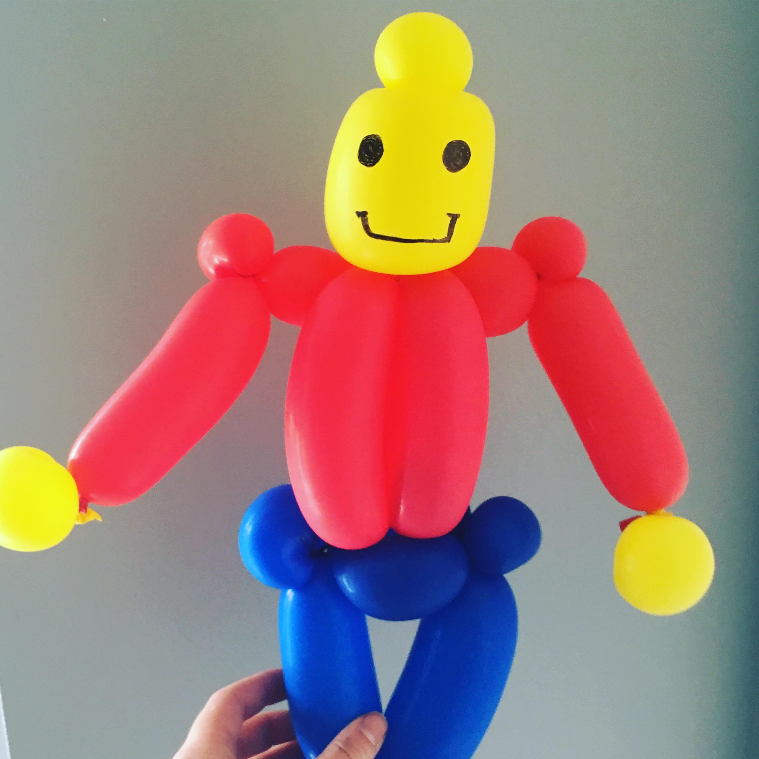 Lego man balloon model
