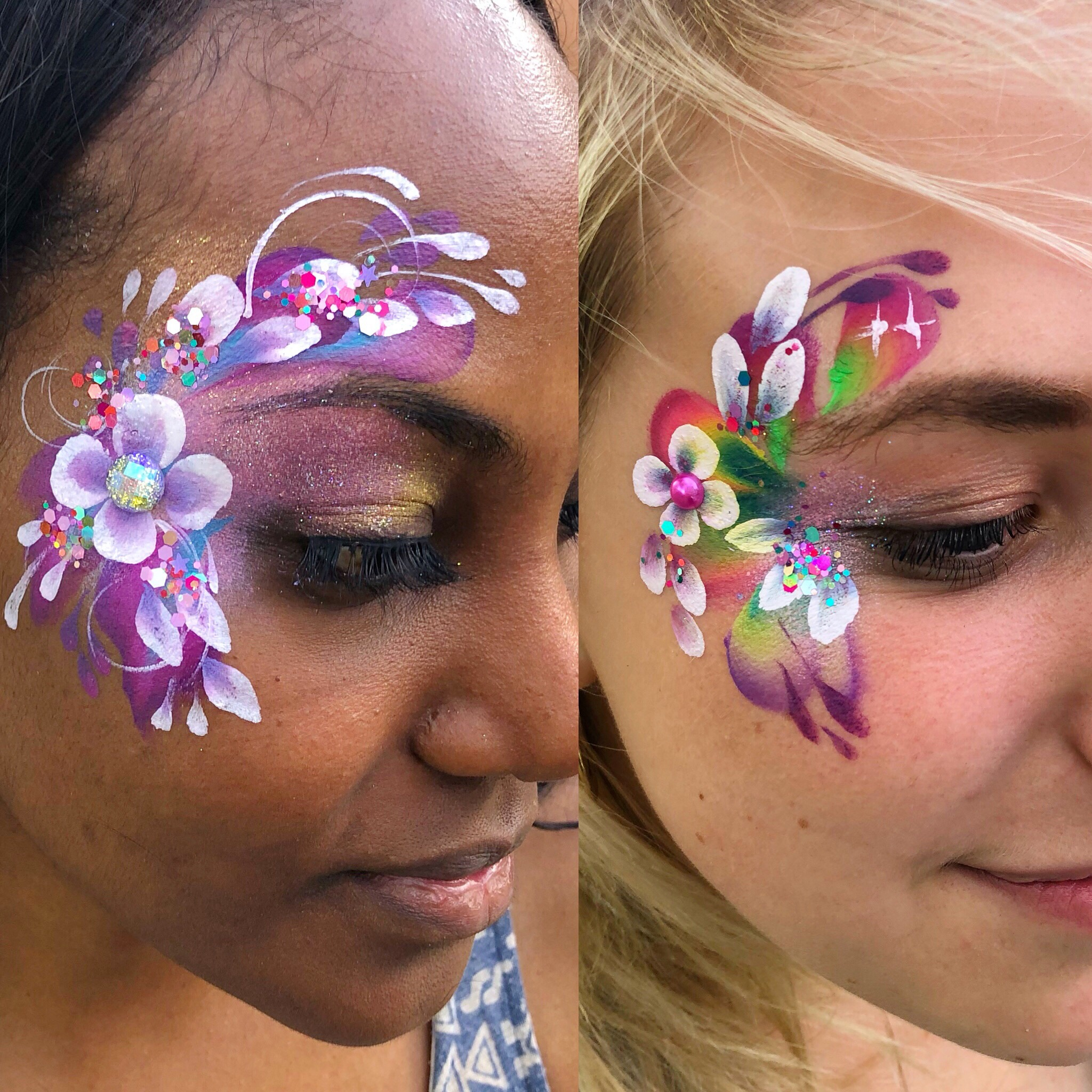 Beautiful adult face paint