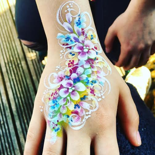 Pretty flower hand paint