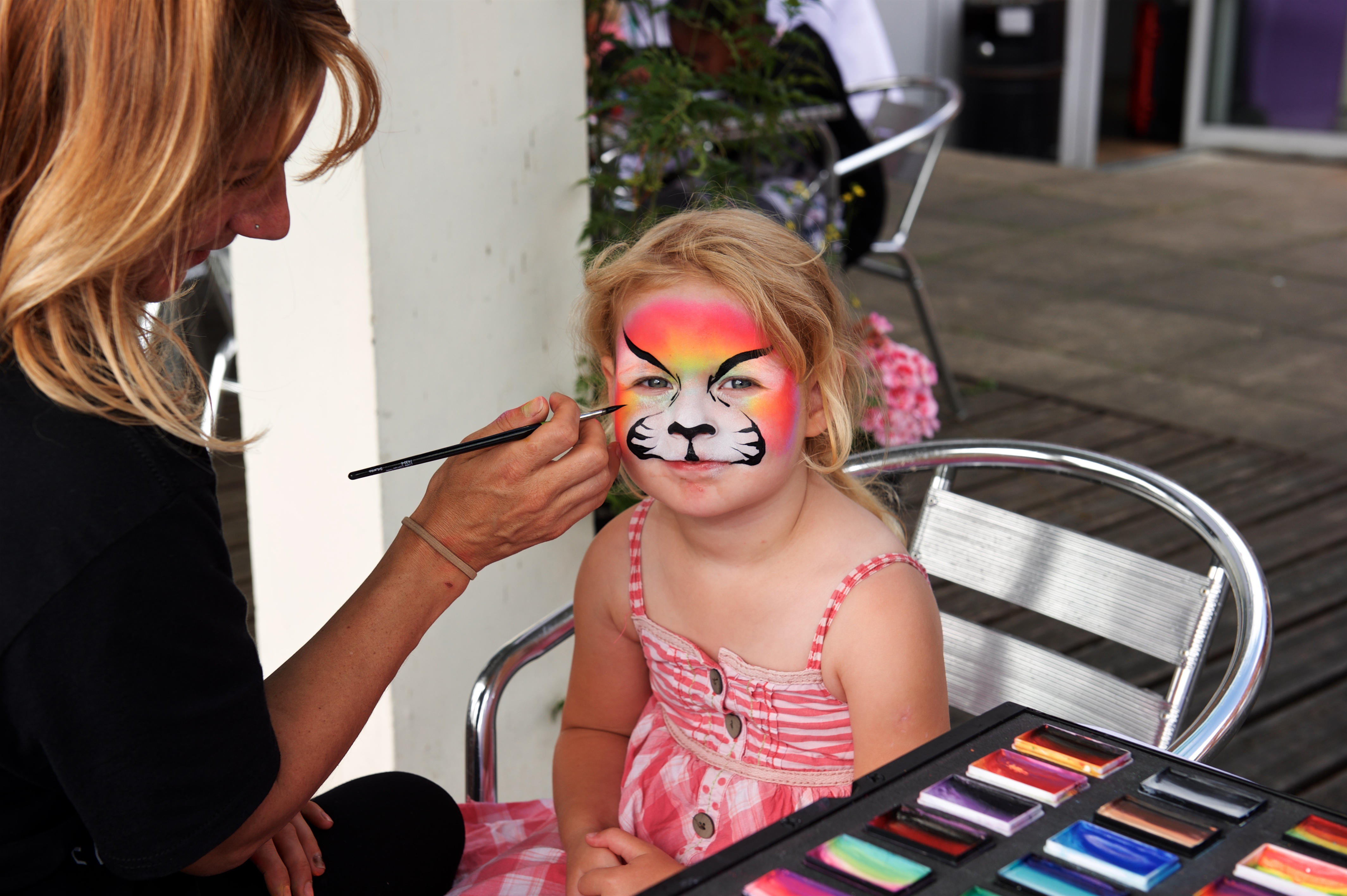 Neon Tiger face paint