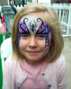 Purple Halloween face paint