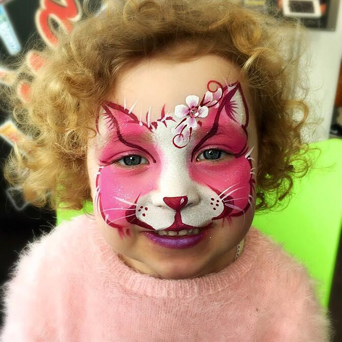 Pink flower cat