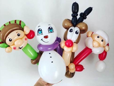 Christmas balloon animals