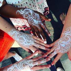 White hand art