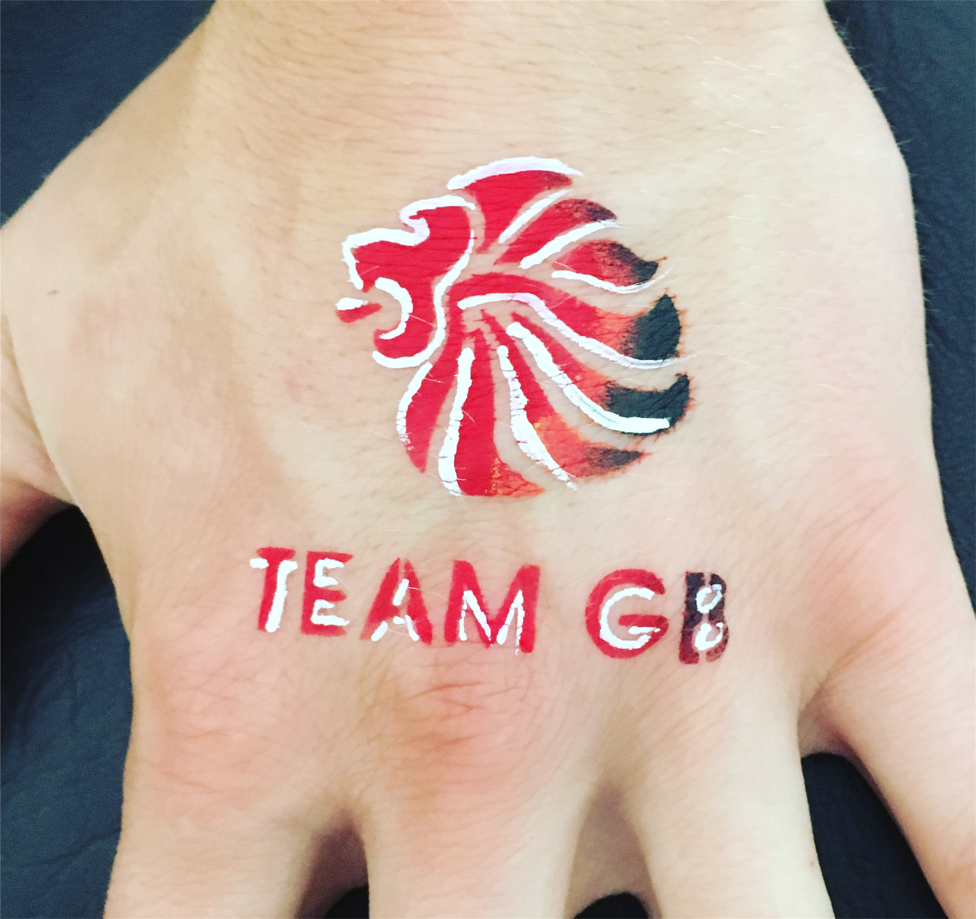 Team GB hand paint