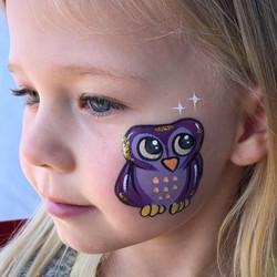 Owl face paint