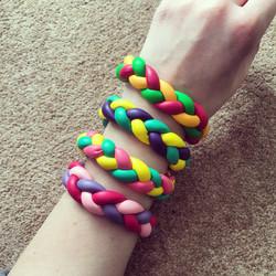 Rainbow balloon bracelets
