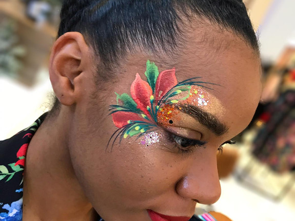 Beautiful festive eye design