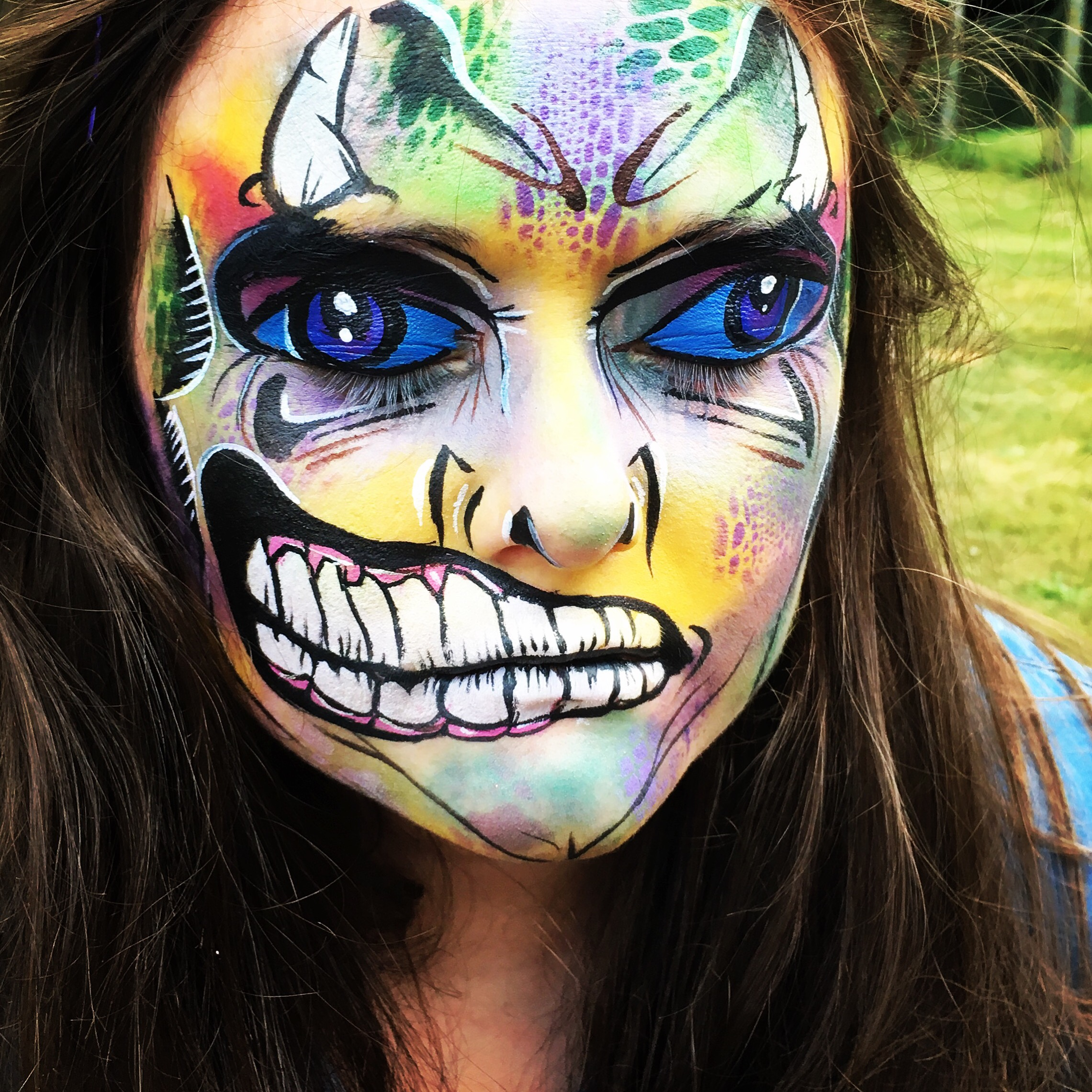 Monster/Zombie face paint
