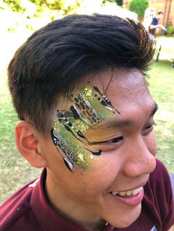 Snake eye face paint