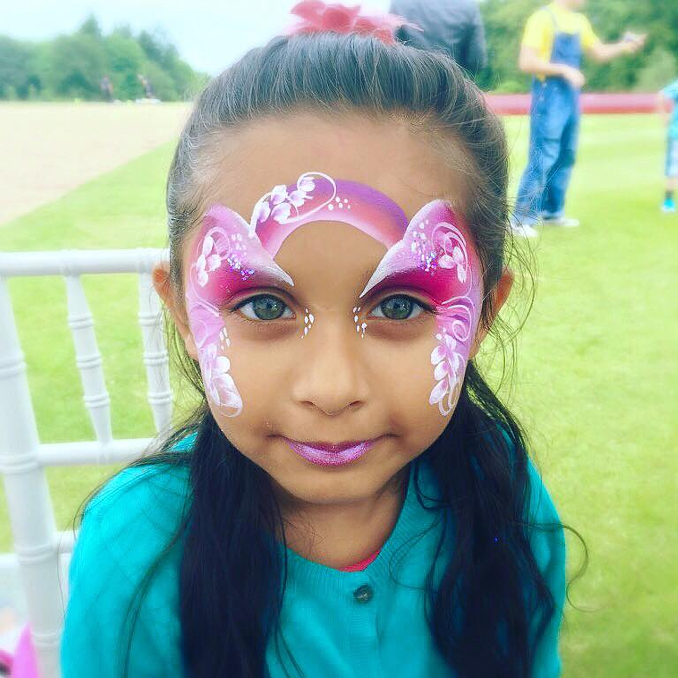 Face painting emilys entertainment a pink rainbow fairy face paint sciox Images
